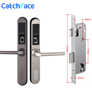 Image 5 - Водонепроницаемый Электронный замок для раздвижных дверей, биометрический замок без ключа для раздвижных дверей с крючком для деревянных или алюминиевых стеклянных дверей