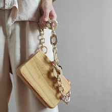 Fashion Acrylic Chain Wood Clip Bags For Women Handbags Retro Beads Wood Box Bag Designer Shoulder Crossbody Bags Evening Clutch цена в Москве и Питере
