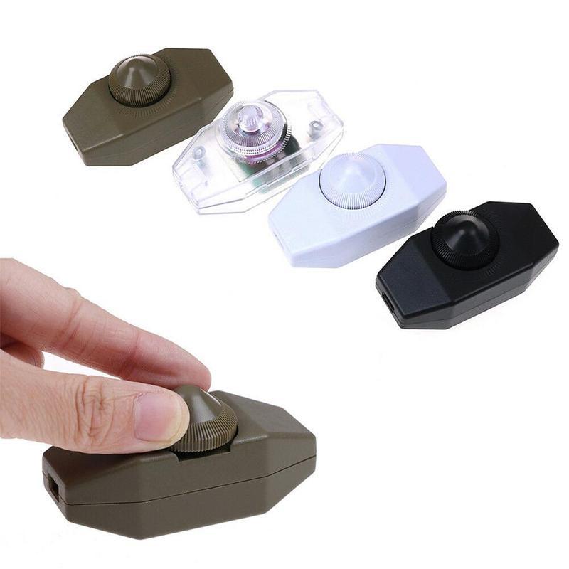 904 controlador interruptor de botón ajustable carcasa AC 220V 1A Manual de uso perilla de pie lámpara de mesa en línea 15-60w atenuador interruptor cubierta caja