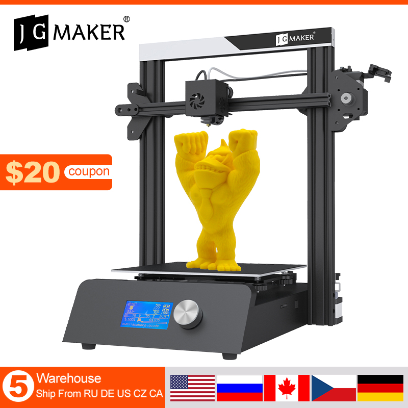 JGMAKER Magic 3D Printer Aluminium Frame DIY KIT Large Print Size 220x220x250mm Printing Masks Fast shipping EU Russia Warehouse|3D Printers| - AliExpress