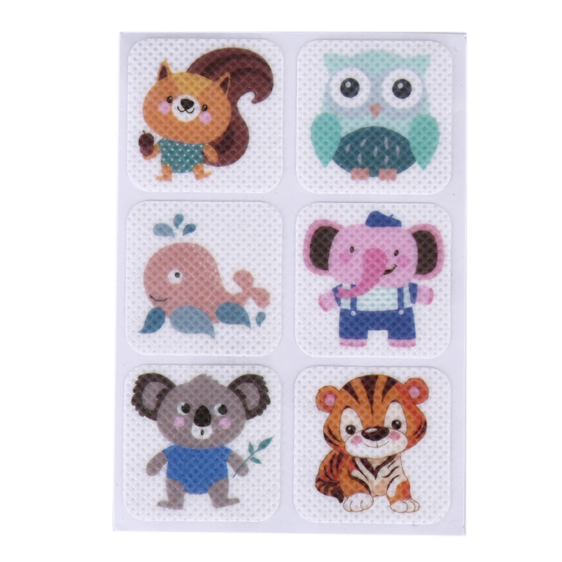 10sheets=60pcs Square Anti-Mosquito Repellent Patch Stickers Cartoon Mosquito Patch For Children Toddler Infant Kids