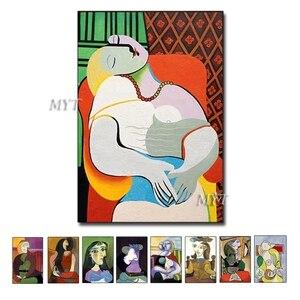Image 1 - جديد مجردة الشكل الفن اليدوية بيكاسو لوحات الاستنساخ الحديثة النفط الطلاء قماش جدار ديكور فني للمنزل جدار صور الفن