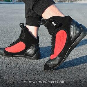 Image 5 - Arcxオートバイの牛の革ブーツストリートモト靴バイクバイクモトクロスチョッパーブーツレース保護保護ブーツ