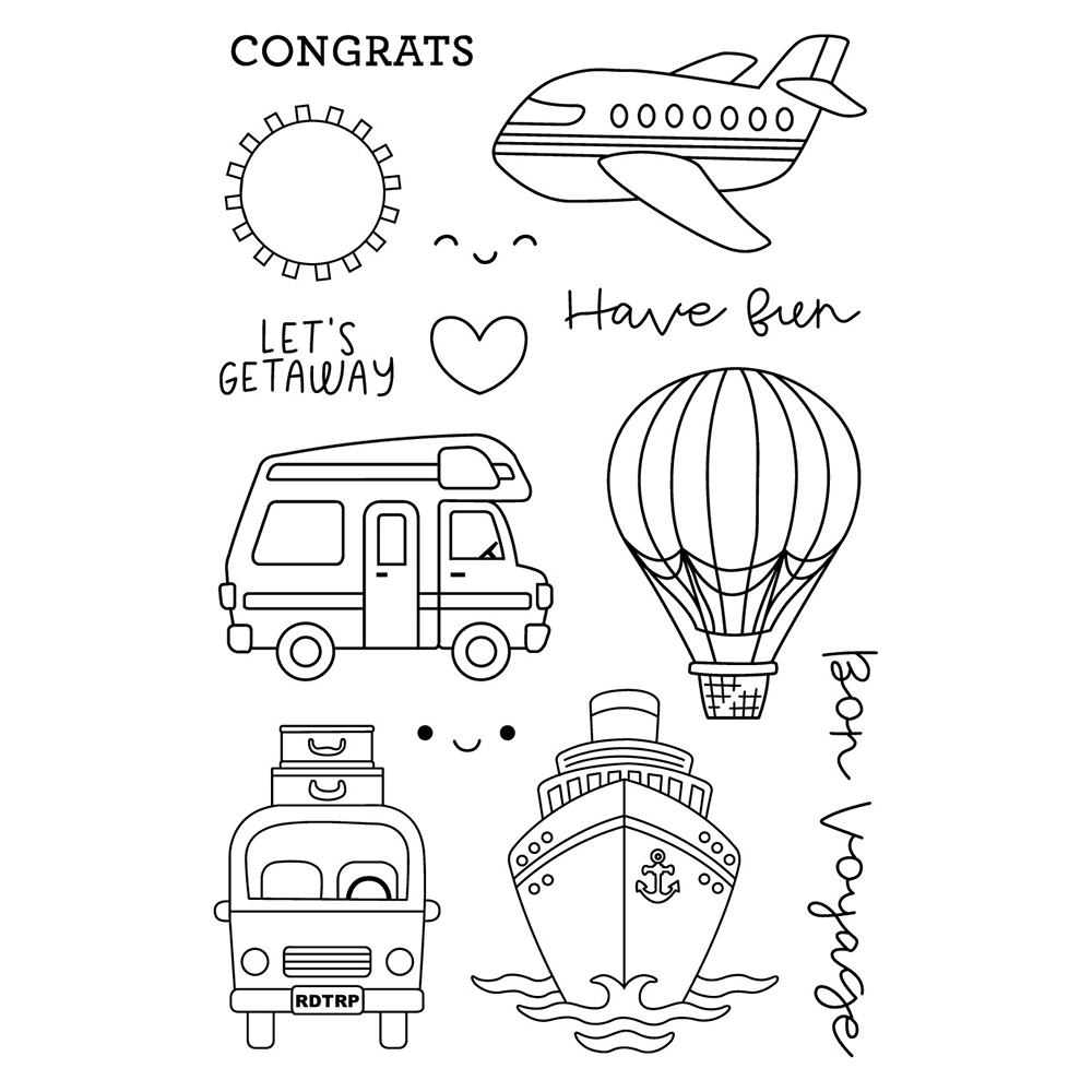 Get away Transparent Clear Silicone Stamp/Seal for DIY scrapbooking/photo album Decorative clear stamp
