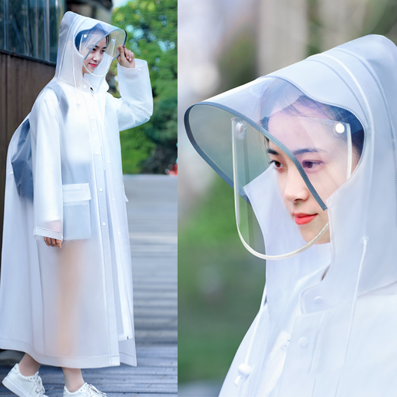 Impermeable Women Coat Raincoat Travel Lightweight Motorcycle Men Rain Coat Transparent Blouse Jetable Reusable Rain Coat MM60YY(China)
