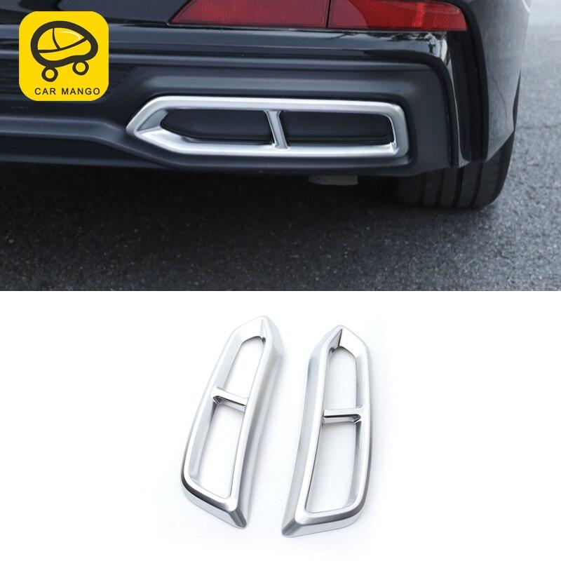 CarManGo pour Audi A6 C8 2019 voiture style queue tuyaux d'échappement silencieux cadre couverture garniture autocollant Chrome accessoires extérieurs