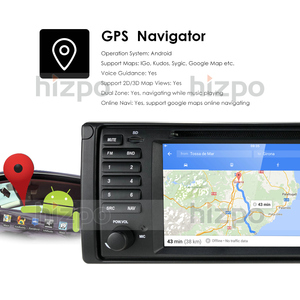 Image 5 - Android 10.0 4G 64G 1 DIN GPS player DVD Navi for BMW Series 5 E39 BMW X5 E53 M5 E38 supports Bluetooth music radio wifi rds obd