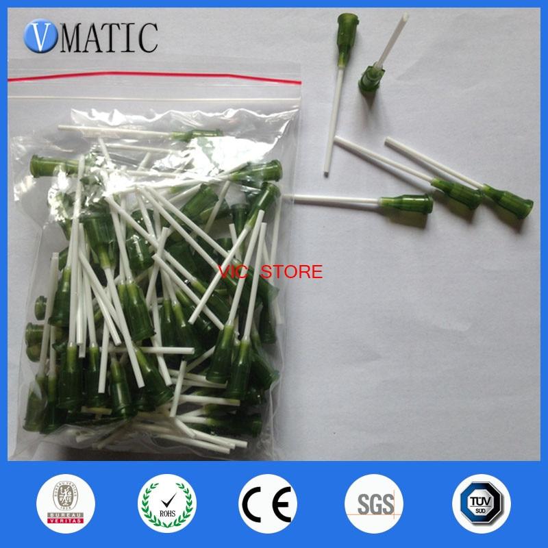 Free Shipping 100Pcs 1.5'' 14G Glue Dispensing Plastic Needle Tip Dispenser Pp Flexible Syringe Needle 1-1/2 Inch