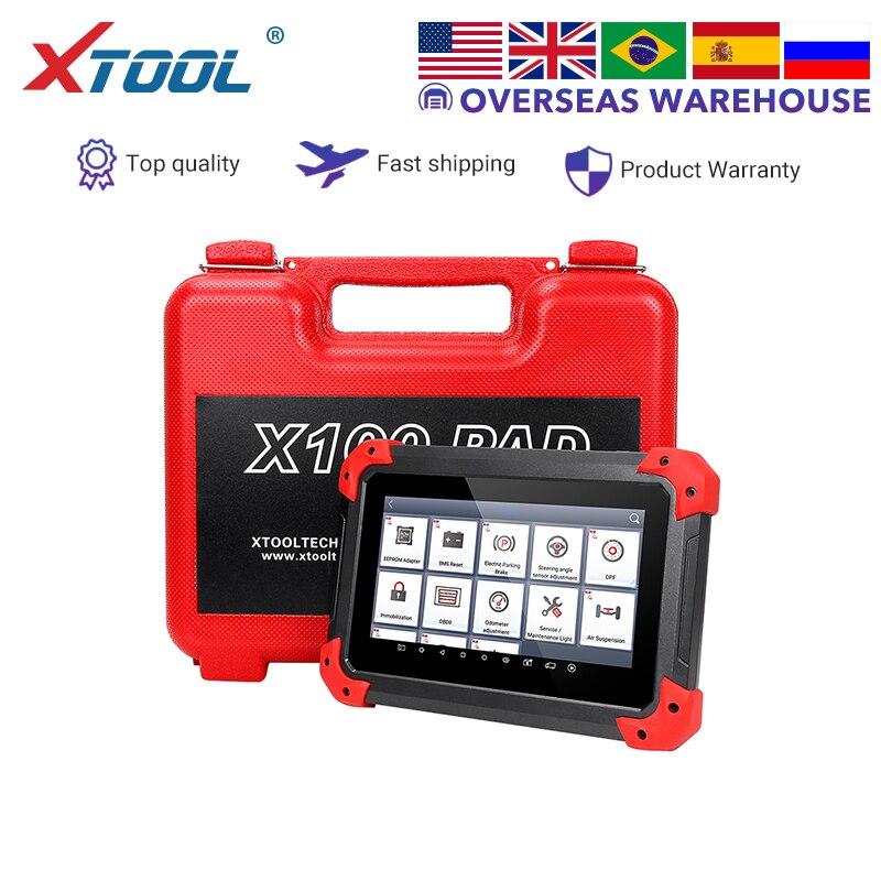 XTOOL OBD2 X100 PAD Chave Programador profissional Auto scanner de diagnóstico leitor de código de ferramenta de ajuste odômetro Atualização online EPB