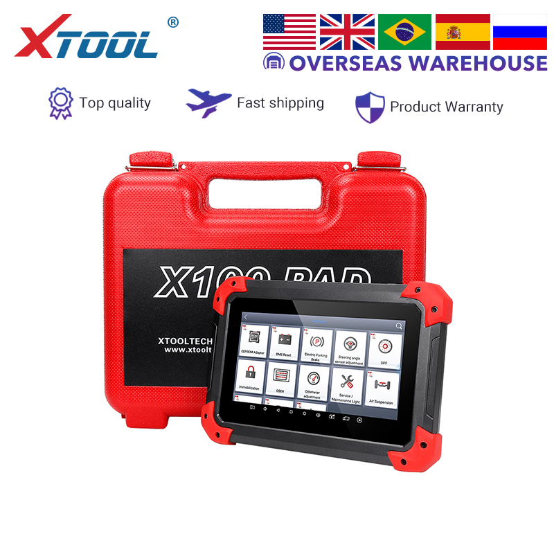 XTOOL X100 PAD Key Programmer professional OBD2 Auto scanner diagnostic tool odometer adjustment Update online code reader EPB