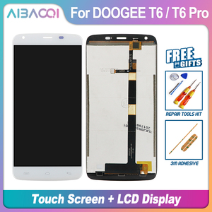 Image 4 - AiBaoQi New Original 5.5 inch Touch Screen+1280X720 LCD Display+Frame Assembly Replacement For Doogee T6/T6 Pro Android 6.0