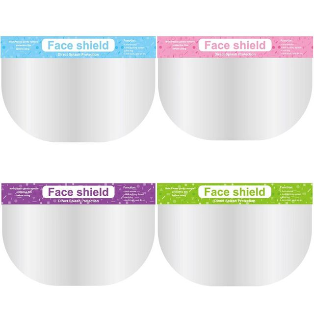 5 Pcs Anti-saliva Child Transparent Protective Mask Protective Adjustable Dust-proof Full Face Cover Mask Visor Shield Face Mask