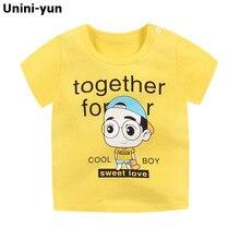 Летняя футболка для маленьких мальчиков детская повседневная хлопковая одежда с короткими рукавами и принтом человека для малышей топы, футболки летний топ для детей от 9 месяцев до 6 лет