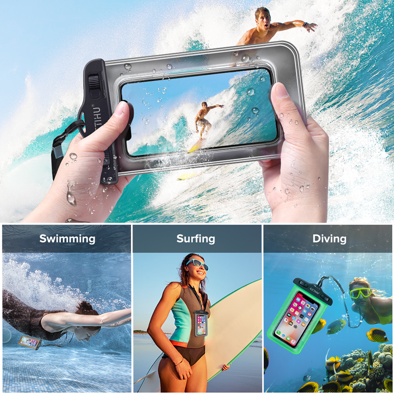 Waterproof Phone Case Swim Pouch Bag For Androids, and iPhone 6