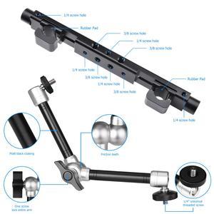 """Image 2 - 11"""" Adjustable Articulating Friction Magic Arm Super Clamp Holder Mount Kit Aluminum Video Vlog DSLR Camera w/Hot Shoe Adapter"""