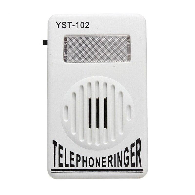 1 PC 95dB Extra-Loud Telephone Ringer Phone Ring Amplifier Ringing Help Strobe Light Bell Sound Landline Ringer Sound Ringtones