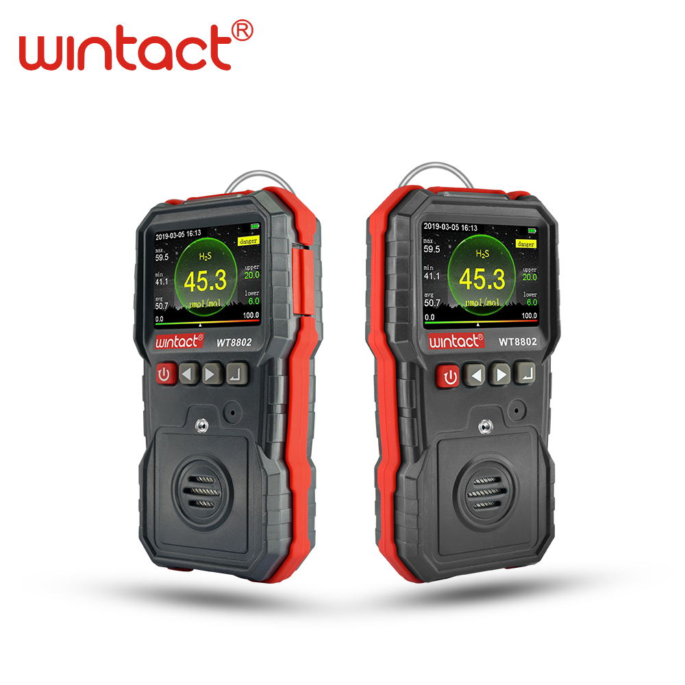 Professional Colorscreen Hydrogen Sulfide gas detector with 120000 groups data logging and sound light vibration alarm in Gas Analyzers from Tools
