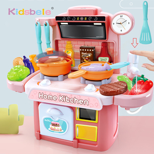 Children Kitchen Toys Simulation Dinnerware Educational Toys Mini Kitchen Food Pretend Play Role Playing Girls Toys Cooking Set