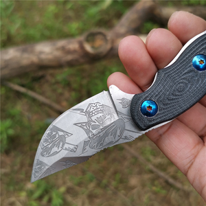 Image 4 - Cuchillo con mango 57HRC G10 hoja recta forjada de alta dureza Bueno para caza Camping supervivencia al aire libre y llevar todos los días