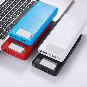 Image 3 - QC 3,0 Dual USB + Type C PD 8x18650 аккумулятор, DIY Power Bank Box, светодиодное быстрое зарядное устройство для iPhone, Samsung, сотового телефона, планшета, 37MC