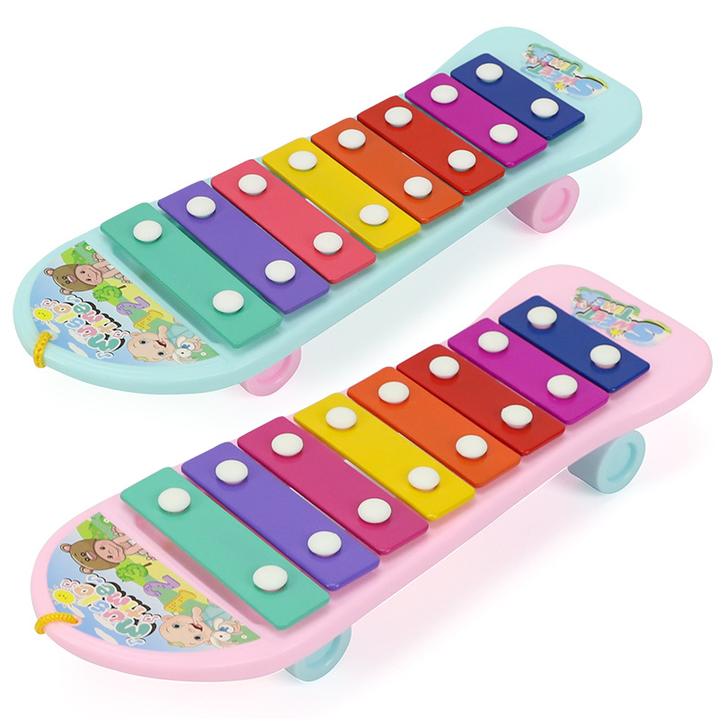Children Octave Music Aluminum Golden Harp Surface Toy Piano Educational Early Childhood Music Piano GIRL'S Toy