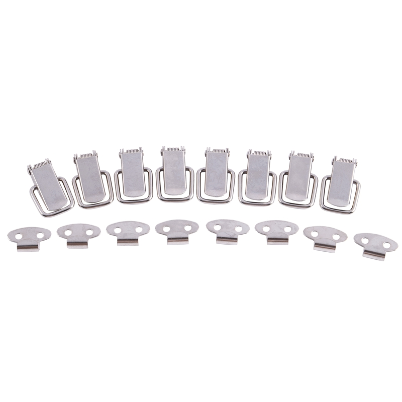 """2 Set Cabinet Spring Loaded Stainless Steel Straight Loop Toggle Latch 3/"""""""