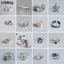 High Quality Fashion 925 Sterling Silver Geometric Layer Smile Face Adjustable Rings For Women Wholesale Jewelry cheap UQBing 925 Sterling NONE GDTC Fine RMIX074-127 TRENDY Wedding Bands Anniversary