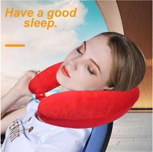 U-Shaped Pillow Comfortable Soft Travel Neck Memory Foam for Home Pain