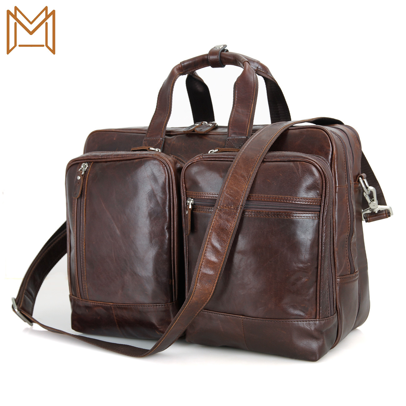 Male Package Business Affairs Cowhide Handbag Genuine Leather Inch Computer Package Business Affairs