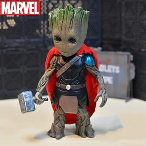 Disney strażnicy galaktyki 2 drzewo człowiek Groot Thor 26cm kolekcjonerska kreskówka Mini figurka lalki model dla dla dzieci
