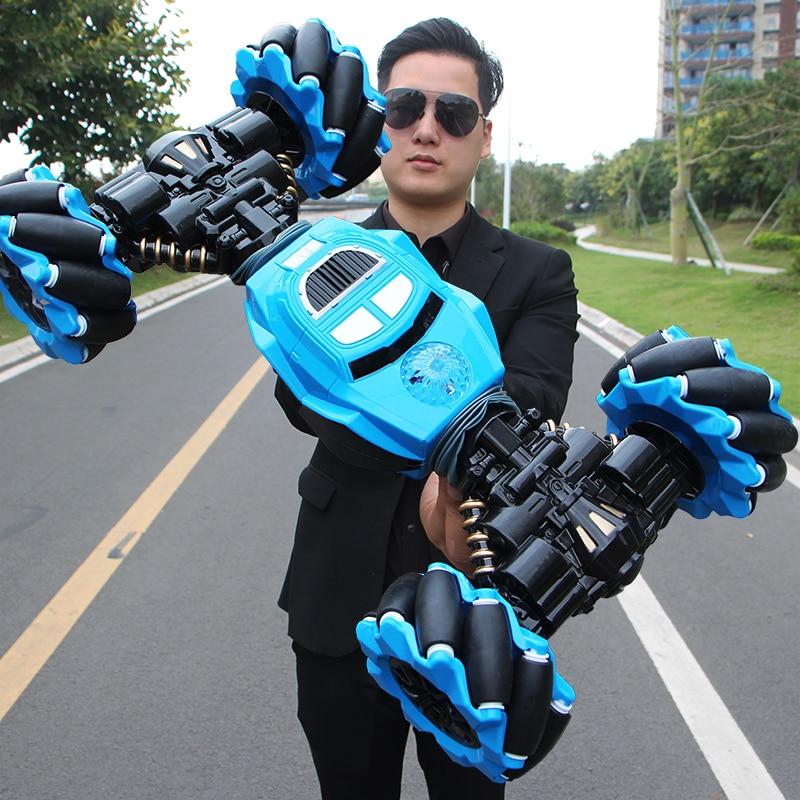 Радиоуправляемый автомобиль 4WD Радиоуправляемый трюк для автомобиля индукция жестов скручивание внедорожник светильник музыка дрейф игрушка высокая скорость скалолазание RC автомобиль