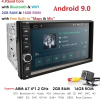2019 Android 9.0 2DIN Universal Car NO DVD player Auto Radio Quad Core 7Inch GPS Stereo Audio Head unit Support DAB DVR OBD BT