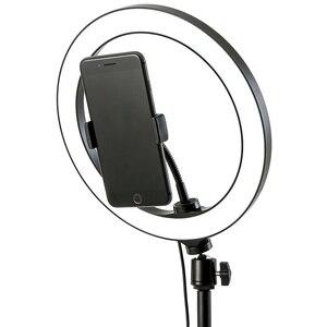 """Image 1 - 6 10 """"светодиодный светильник для селфи с кольцом лампа для Tik Tok фотография Макияж Видео Live Studio 3200 5600K Диммируемый Мини светодиодный кольцевой светильник для камеры"""