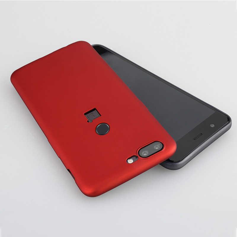 """Oneplus 5t funda de Mofi funda de oneplus 5T funda trasera suave mate negro rojo con oneplus logo agujero uno iPhone 5 caso funda 6,01"""""""