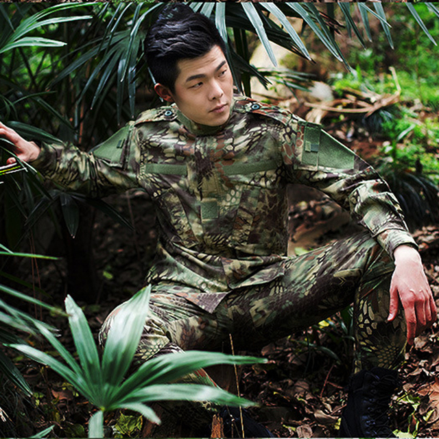Army Military Airsoft Tactical BDU Uniform Kryptek Mandrake Camouflage Battlefield Suit Airsoft Paintball Shirt Hunting Clothing 6