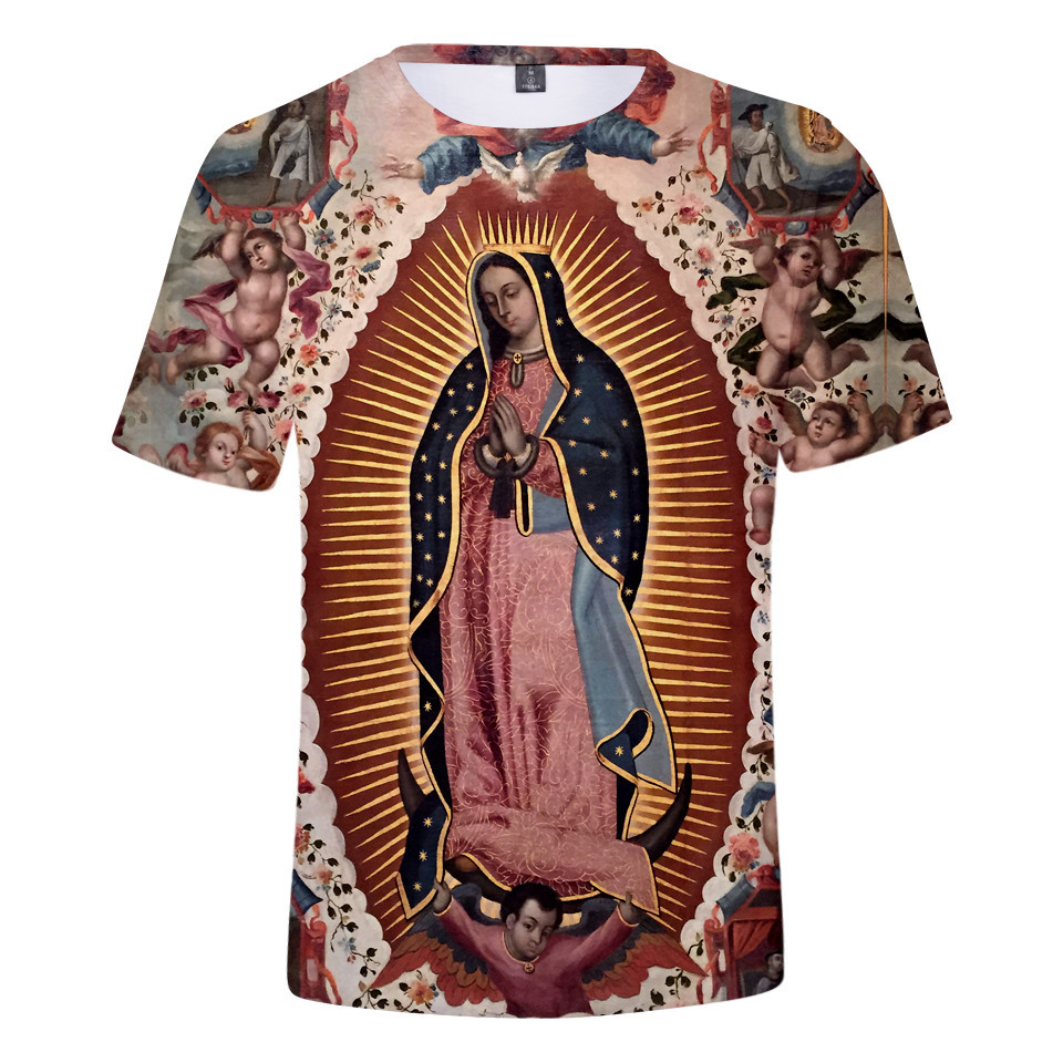 Our Lady Of Guadalupe Virgin Mary Catholic Mexico Top Quality t shirt men summer short sleeve t-shirt harajuku tshirt clothes