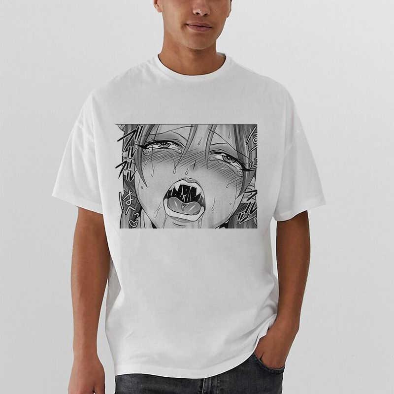 目 tシャツ男性/女性アニメコミックトップスストリートヒップホップ原宿マンガおかしい tシャツ刑務所学校悲しい日本女の子男性夏