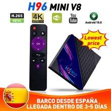 H96 Mini V8 RK3228A TV Box für TK TV Version Android 10,0 2G + 16G/1G + 8G 2,4 GWIFI 4K HD VP9 Video Dekodierung Set Top Box