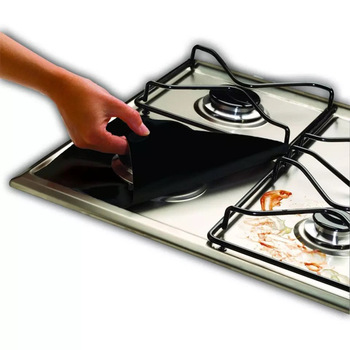 1/4PC Stove Protector Cover Liner Gas Stove Protector Gas Stove Stovetop Burner Protector Kitchen Accessories Mat Cooker Cover 5