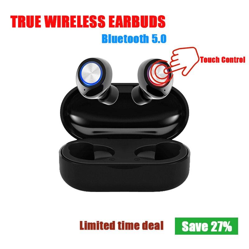 Tw60 tws fones de ouvido sem fio bluetooth fone de ouvido 5.0 toque ipx5 esportes fone fone fone sem fio oortjes auriculares