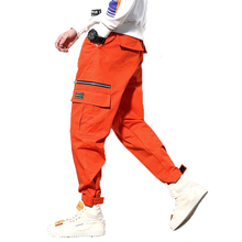 Mens Harem Pants 2019 Men Cargo Pants Casual Male Tatical Joggers Mens Track Harem Pants Homme Streetwear HipHop Trousers M-5XL cheap FAVOCENT 20190918 High Street Flat Polyester COTTON Midweight Pockets Batik Loose Full Length Zipper Fly