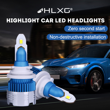 9005 LED HB3 HB4 9006 H11 H8 H9 H7 H4 LED Headlight 6000K 18000LM High Power Turbo Car Auto Headlamp Bulbs Bombillas Led Coche image