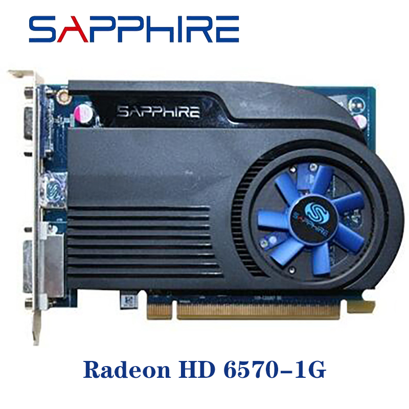 Used SAPPHIRE Video Cards HD6570 <font><b>1GB</b></font> DDR3 AMD Graphics Card <font><b>GPU</b></font> Radeon HD 6570 Office Computer For AMD Card Map HDMI image