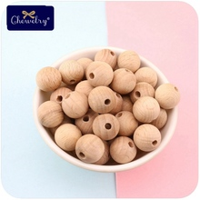 20pc 25mm Baby Teether Beech Wooden Beads Chew Nursing DIY Crafts Non-toxic Crib Toy Jewelry Making Handmade