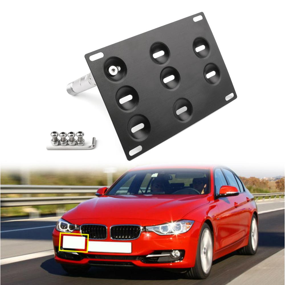 Areyourshop Bumper Tow Hook License Plate Mount Bracket For BMW F30 F32 F10 3 4 5 SERIES License Plate Holder Car Accessories