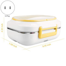 Electric Heating Lunch Box Food Heater for Car Office Portable Lunch Meal Heater 110V and 12V Dual Use US Plug(China)