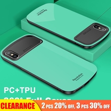 [Clearance] For iPhone XS MAX Case 360 Full Protection Soft TPU+PC Cover Matte Silicone XR 6S Plus Cases Armor