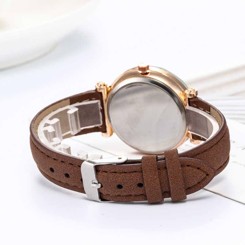 2020 Fashion Casual zegarek na rękę dla kobiet stylowy skórzany pasek luksusowy diamentowy zegarek kwarcowy kobiety sukienka zegar relogio feminino