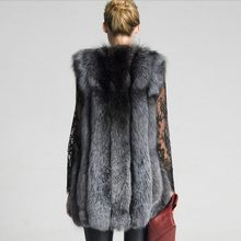 2020 Fashion Womans Sleeveless Faux Fox Fur Vest Elegant Party Long Outwear Streetwear Slim Fit Woman Furry Coat Plus Size S-6XL(China)