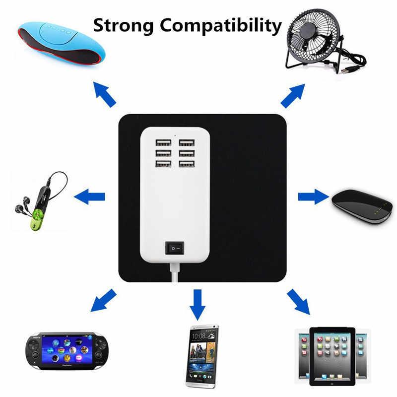 XEDAIN 6 منافذ شاحن USB للهاتف 5 فولت/3A الاتحاد الأوروبي/الولايات المتحدة محول القابس الهاتف المحمول العالمي آيفون باد سامسونج متعددة الجدار شحن